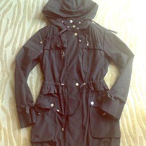 Betsey Johnson rain/snow jacket with hood and g